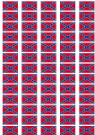 Confederate Flag Stickers - 65 per sheet